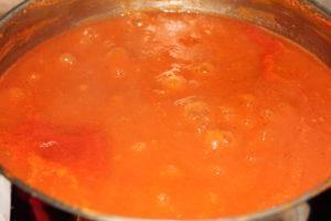 kochende Tomatensoße